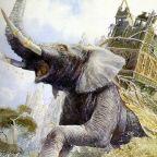 Le mumak, peinture d'Alan Lee